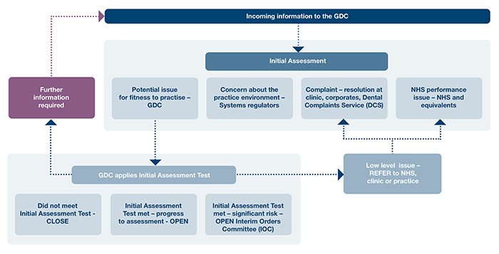Summary of the initial assessment process