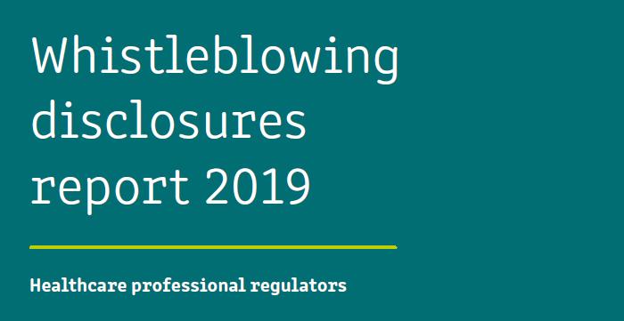 Whistleblowing disclosures report 2019