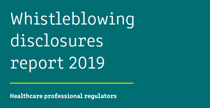Whistleblowing disclosures report 2019